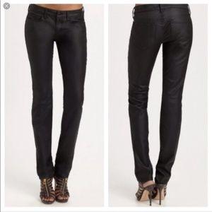 Joe's Jeans The SKINNY coated Black Jeans 27